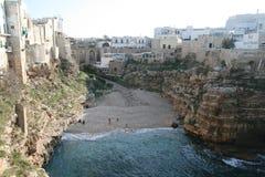 Praia de Polignano imagem de stock royalty free