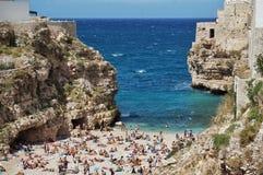 Praia de Poligniano foto de stock royalty free
