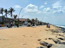 Praia de Pondicherry Fotos de Stock Royalty Free