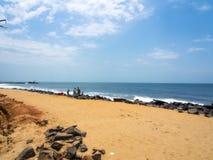 Praia de Pondicherry Imagens de Stock Royalty Free