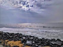 Praia de Pondicherry foto de stock royalty free