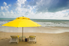 Praia de Ponta Negra, natal foto de stock royalty free