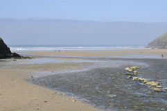 Praia de Porth Fotos de Stock
