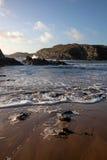 Praia de Porth Dafarch Imagens de Stock