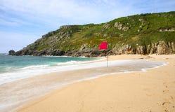 Praia de Porthcurno. imagens de stock