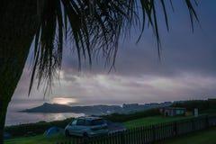 Praia de Porthemor em St Ives no crepúsculo imagens de stock