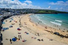 Praia de Porthmeor, St Ives, Cornualha foto de stock