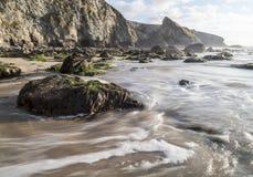 Praia de Porthtowan em Cornualha Reino Unido Inglaterra fotografia de stock