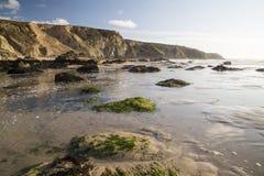 Praia de Porthtowan em Cornualha Reino Unido Inglaterra imagens de stock