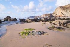 Praia de Porthtowan em Cornualha Reino Unido Inglaterra foto de stock