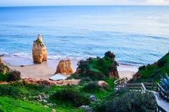 Praia de Portimao Imagens de Stock Royalty Free