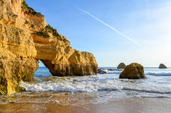 Praia de Portimao Fotografia de Stock Royalty Free