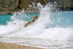 Praia de Porto Katsiki imagens de stock
