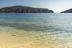 Praia de Porto Koufo, Chalkidiki, Sithonia, Macedônia central Imagens de Stock Royalty Free