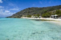 Praia de Porto Marie em Curaçau, as Caraíbas holandesas Fotografia de Stock Royalty Free