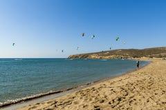 Praia de Prassonissi Foto de Stock Royalty Free