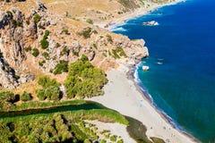 Praia de Preveli Imagem de Stock