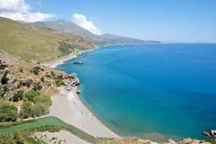 Praia de Preveli, Crete Fotos de Stock Royalty Free