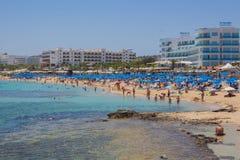 Praia de Protaras, Chipre Fotografia de Stock Royalty Free