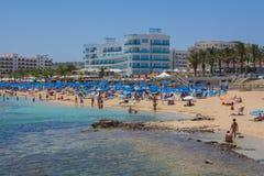 Praia de Protaras, Chipre Imagem de Stock Royalty Free