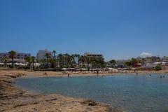 Praia de Protaras, Chipre Fotografia de Stock