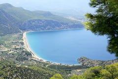 Praia de Psatha, Atenas, Grécia Foto de Stock