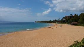 Praia de Puamana, Maui imagens de stock royalty free
