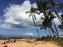 Praia de Puamana, Maui Foto de Stock Royalty Free