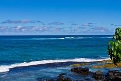 Praia de Puamana, Maui Imagem de Stock
