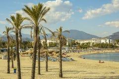 Praia de Puerto Banu, Marbella, Espanha Imagens de Stock