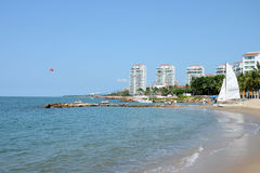 Praia de Puerto Vallarta fotografia de stock royalty free