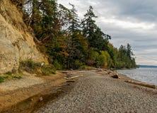 Praia de Puget Sound foto de stock royalty free