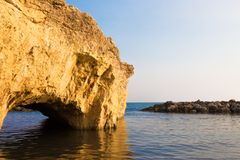 Praia de Punta Cirica no por do sol fotografia de stock
