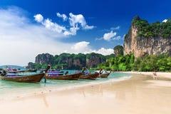 Praia de Railay em Krabi Tailândia Fotografia de Stock
