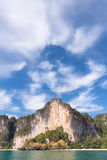 Praia de Railay em Tailândia foto de stock