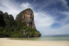 Praia de Railey em Krabi imagem de stock