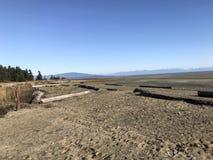 Praia de Rathtrevor, Parksville, BC Imagem de Stock