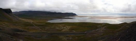 Praia de Raudisandur, Westfjords de Islândia Fotografia de Stock Royalty Free