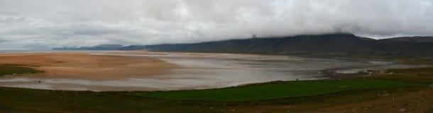 Praia de Raudisandur, Westfjords de Islândia Foto de Stock