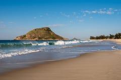 Praia de Recreio em Rio de janeiro imagem de stock