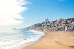 Praia de Renaca - Vina del Mar, o Chile fotos de stock