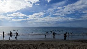 Praia de Rican da costela Imagens de Stock