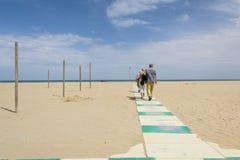Praia de Rimini Foto de Stock