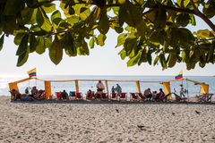 Praia de Rodadero fotografia de stock royalty free