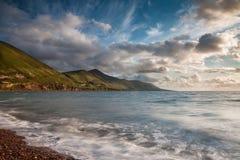 Praia de Rossbeigh no por do sol co Kerry Ireland Imagem de Stock Royalty Free