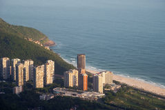 Praia de São Conrado Foto de Stock Royalty Free