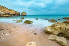 Praia de São Rafael, Algarve, Portugal. One of the many beaches in the Portuguese Algarve Royalty Free Stock Photos
