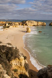 Praia de S.Rafael. Wide view of the S.Rafael beach near Albufeira, on the Algarve Stock Photos