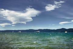 Praia de Saint Tropez na manhã Riviera francês Fotografia de Stock Royalty Free
