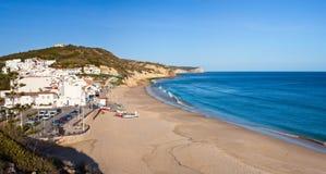 Praia de Salema fotografia de stock
